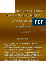 GRAVIMETRIC ANALYSIS AND PRECIPITATION EQUILIBRIA.ppt