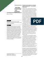 Desarrollo de Competencias Como Clave de La Estrategia Organizacional