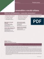 Las energías renovables a escala urbana