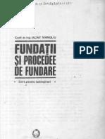 Iancint Manoliu - Fundatii Si Procedee de Fundare