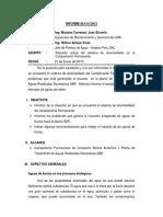 Informe Situación de Sistema de Alcantarillado Campamento Permanente 0113