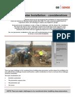 Deep Piezometer Installation Guide