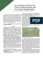 Características elétricas da LT Tucuri - Macapa