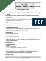 PP-E 49.01 Código de Colores y Señales