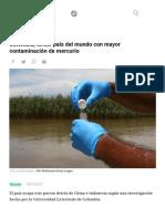 Colombia, Tercer País Del Mundo Con Mayor Contaminación de Mercurio
