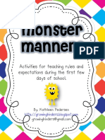 Monster Fun Teaching Manners and Expectations