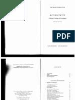 Thomas Dubay - Authenticity.PDF