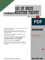 Four Eras of Mass Communication Theory