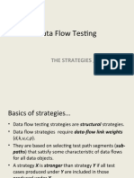 Data Flow Testing - Strategies