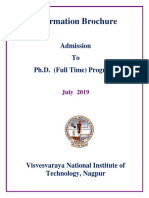 New Full Time PhD Information Brochure JULY 2019 1