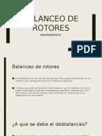 Balanceo de Rotores Mantenimiento