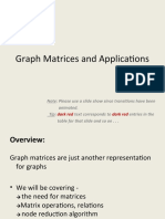 Graph Matrices and Applications