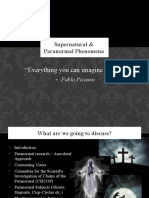 Presentation - Supernatural & Paranormal Experiences