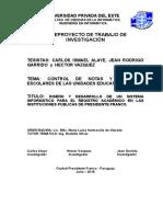 Proyectó Documento