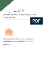 Respiración - Wikipedia, La Enciclopedia Libre
