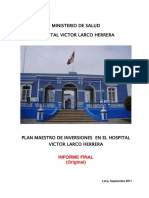Plan Maestro Hospital Larco Herrera
