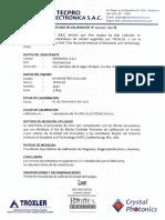 Certificado de Calibracion - Densimetro Nuclear TROXLER 3430 - 32893