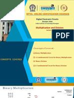 Multiplication Division using digital circuits