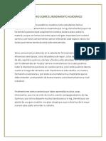 COMENTARIO SOBRE EL RENDIMIENTO ACADEMICO.docx