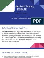 ethics standardized test debate