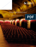 Theatre and Performance Brochure
