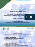 Capital Institucional. Las Instituciones Importan