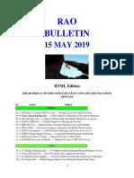Bulletin 190515 (HTML Edition)
