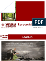 Innovation - Research Proposal - Pham Hoa