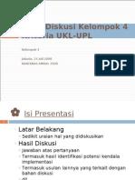 Rakernas AMDAL 2008 - Hasil Diskusi Kelompok UKL-UPL