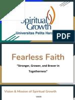 Proposal fearless faith