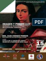 """Conferencia magistral """"IMAGEN Y PODER. RETRATOS DE MUJERES INCAS EN LA PINTURA VIRREINAL""""."""