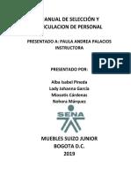 MANUAL DE SELECCIÓN Y VINCULACION DE PERSONAL MUEBLES SUIZO JUNIORS.docx