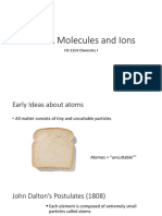 Atoms, Molecules and Ions (Slides)
