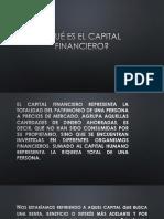 Qué Es El Capital Financiero