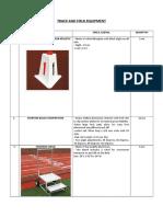 Track and Field Equipment (Joe)