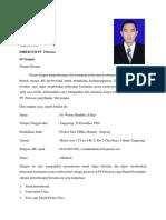 surat lamaran & Daftar Riwayat (Wisnu Handoko)..docx