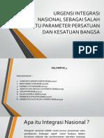 URGENSI INTEGRASI  NASIONAL SEBAGAI SALAH SATU PARAMETER PERSATUAN.pptx