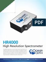 High Resolution Spectrometer HR4000