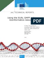 Using the EURL GMFF Online Bioinformatics Resources