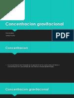 Concentracion gravitacional