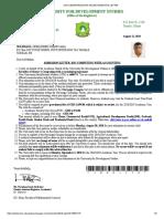 Sample UDS  Admission Letter