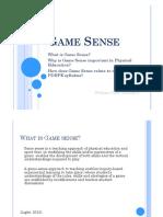 pe presentation - game sense