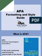 APA Formating