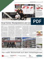 Stop Manipulation Am Gerüst