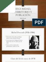 Presentación sobre Territorio Seguridad y Población