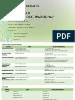 Perbedaan undang-undang Obat dan Obat Tradisional