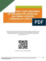 IDbb11e6b9b-facing the lion growing up maasai on african savanna joseph lemasolai lekuton