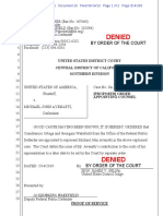 Selena Order Denying Avenatti's Application for PD Without Financial Dec