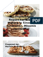 Monthly Accomplishment Report For Bread Making in Sinonoc.docx