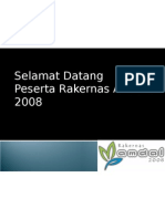 Rakernas AMDAL 2008 - Banner Selamat Datang